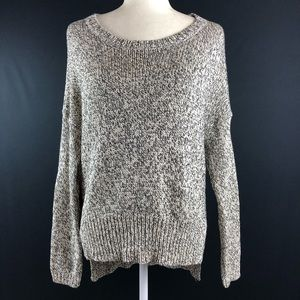 RDI Marled Elbow Patch Knit Sweater